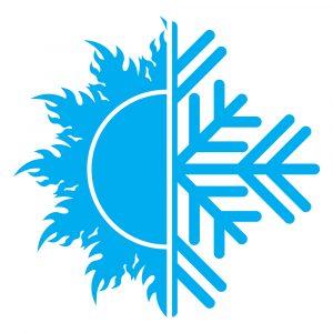 simbolo sole e ghiacchio-ricarica clima
