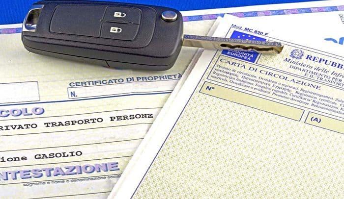 documenti auto
