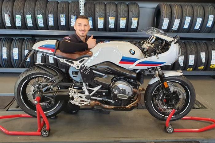 Fabrizio Pagliaro e moto bmw