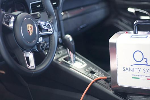 sanificare l'auto con ozono