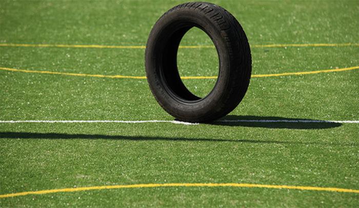 smaltimento pneumatici: pfu su campo sintetico