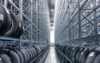 scaffali magazzino pneumatici