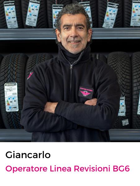 Giancarlo Chiarini operatore linea revisione bg6